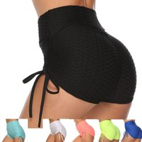 Yoga Outfits Sexy Shorts High Waist Women Sports Fitness Bubble Tight Jogging Running Stretchy Bandage Leggings