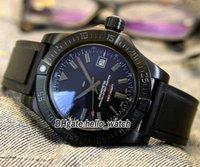 Tasarımcı Saatler A1733110 II Siyah Dial Otomatik Erkek İzle PVD Siyah Çelik Kılıf Kauçuk Askı Yüksek Kaliteli Gents İndirim