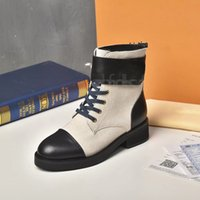 """Women Designers Boots Ankle Nylon Combat Boot and winter Martin with box""""Louis…Boots""""Vitton""""YSL…A0016"""
