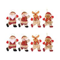 Christmas Decorations 8Pcs Merry Ornaments Gift Santa Claus Snowman Tree Toy Doll Hang For Home