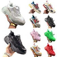 balenciaga balenciaca balanciaga Designer Triple S  Shoes Clear Bubble Midsole Men 2021 Triple-S Sneakers Increasing Leather Dad  hommes femme  femmes baskets  chaussure