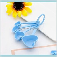 Event Festive Supplies Home & Gardenspoon Heart Shaped Measuring Wedding Souvenir Gift Baby Shower Party Favor Kitchen Baking Plastic Spoons