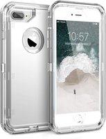 PC duro + marco TPU suave [absorbente de golpes] Cajas de teléfono Cristal Clear para iPhone 13 / 13Pro12 / 12 Pro Cubierta de caja