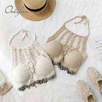 الصيف النساء محبوك رتبة الرسن بروتيل الديكور بوهو شاطئ قمم bralete 210415