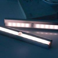 Kabinettlicht LED Nacht Bewegungssensor Schrank 4 Gangeinstellung Schlafzimmer Beleuchtung Wandleuchte mit Magnetstreifen
