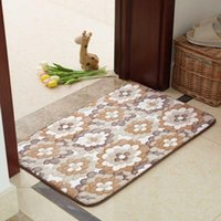 Carpets Pastoral Style Floor Carpet For Living Room Bedroom Decor 5 Sizes Soft Kitchen Rugs Water Absorbent Anti-slip Doormat Mat