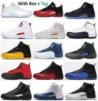12 Yardımcı Programı Twist Ovo Düşük Paskalya Kase Ters Grip Oyunu Basketbol Ayakkabıları Erkekler 12s Üniversitesi Altın Koyu Concord Taksi Playoff Taş Mavi Fransız Mavi Kiraz Sneakers