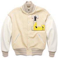 Tessuto pesante Giacca da baseball Cardigan Kapital Cardigan Uomo Donne 1: 1 Cappotto di qualità Manica in pelle Streetwear Giacche da uomo