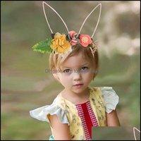 도구 productsfashion 꽃 아기 머리띠 귀여운 토끼 귀 만화 아이들 만화 아이들 머리 띠 머리 밴드 aessories fo