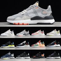 Adidas Men's Women's Nite Jogger Boost Nightcrawler 3M reflective mesh with suede stitching Really explosive outsole retro running shoes