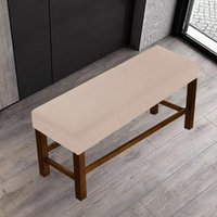 Chair Covers Washable Home Slipcover Bench Cover Elastic Long Anti Dust Bedroom Full Coverage Dining Room Stylish Furniture Protective