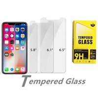 Screen Protector Tempered Glass for iPhone 13 12 mini pro max 11 XR XS 7 8 Plus Samsung LG Protectors Film with Paper Box