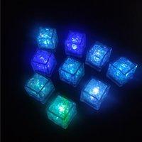 Glaçons glacée lumineux bloc fluorescent lumineux coloré cubes cubes flash induction glace lumière ktv bar wedding fournitures de mariage