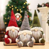 Weihnachtsdekorationen Buffalo Weihnachtspuppen Figuren Handgemachte Gnome Faceless Plüschtiere Geschenke Kinder Weihnachten Geschenke FY7177