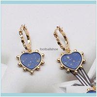 Jewelry 18K Gold Plated Fashion Brand Designer Stud Earrings Pierced Geometric Creativity Heart Tassel Women Pearl Earring Wedding Party Jew