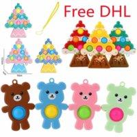 Рождественская елка силиконовые FIDGET игрушки мультфильм медведь вентиляция реквизит давления пресс типа декомпрессионные игрушечные подарки DHL бесплатно