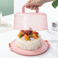 Storage Bottles & Jars Kitchen Supplies Durable Plastic Round Container Cupcake Dessert Cake Box Holder Half Transparent