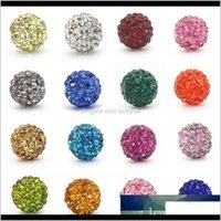 Perles de cristaux de mode 10mm strass Perle en vrac pour bijoux Bracelets Bracelets DIY Accessoires 100pcs en gros UOJYW VGEXB