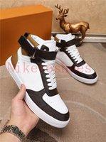 Rivoli Sneaker Run Away 신발 스웨이드 송아지 가죽 고무 Outsole Luxurys 디자이너 운동화 붐 박스 러너 높은 탑 캐주얼 구두 트레이너
