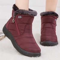 Women Boots Fashion Waterproof Snow For Winter Shoes Casual Lightweight Ankle Botas Mujer Warm 211021