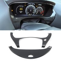 Car Dashboard Trim Instrument Panel Frame Cover Sticker Decoration ABS Carbon Interior Accessories for Jaguar XE X760 2015-2019