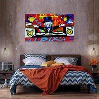 DJ Decoración para el hogar enorme pintura al óleo sobre lienzo Handcrafts / HD Imprimir Wall Art Fotos Personalización es aceptable 21050431