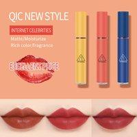 QIC Retro Renk Sıvı Rujlar 3 Renkler Su Geçirmez Mat Kadife Dudak Parlatıcısı Uzun Ömürlü Dudak Balsamı