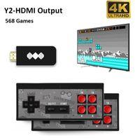 DATA FROG USB Game Consoles Wireless Portable 4K HD Video Player HDMI 568 AV 600Retro Classic Handheld Entertainment Joystick