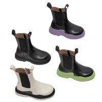 2021 وصول الخريف الشتاء الجلود الاطفال بنات الفتيان الأحذية لينة خفيفة الوزن عدم الانزلاق مارتن التمهيد للأطفال حجم