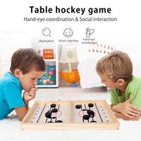 21 * 36 cm Sling rápido Puck juego Juegos de madera Juegos de hockey Ganador de hockey Juegos de ajedrez interactivos para niños adultos Familia Familia Battle Board