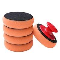 Sponge de voiture 6pcs / Set Wash de cire Nettoyage de coussinet Nettoyage Kit de mousse Microfibre Applicateur Pad applicateur avec poignée de gripper