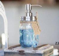 DIY DIY HAND SOAP Bomba de Aço Inoxidável Mason Jar Soap de Bancada / Lotion Dispenser Polonês / Chrome / Orb / Golden HWD10603