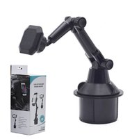 Car Cup Phone Holder Magnetic Mount with Adjustable Arm for iPhone 12 13 Pro Max Samsung Galaxy S21 S20 FE Android Smartphones