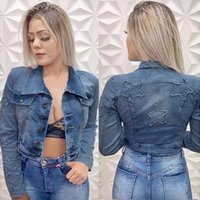 Women's Jackets 2021 Autumn And Winter Women Denim Jacket Vintage Cropped Short Coat Long-sleeve Slim Jeans For Women#35