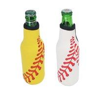 Bottle Cover Neoprene Sleeve Insulation Cooler Diving Beer Zipper Bottle Cover Insulated Beverage Bottle Bag Case Anti-slip Bottom LLE7558