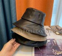Wysokiej jakości skórzane wiadro kapelusz czapki projektant luksusowy słońce baseball czapka mężczyźni kobiety na zewnątrz moda lato plaża sunhat fisherman's kapelusze