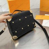 مصمم رجل مقبض صندوق الجذع أكياس الكتف الصليب الجسم حقيبة monograms تنقش شعار الجلود البني الأسود رسول حقائب صغيرة الأمتعة M57971 M45785 M45885