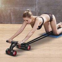 AB-колес брюшной тяги тяги веревки фитнес-сопротивление полосы сопротивления для 4-колесовой животный роликовый роликовый мужской тренажер для домашнего фитнеса
