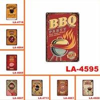 Partie Décoration Dad's Barbec Suis arrière Cuisine Cuisine Métal Sings Vintage Signe d'étain Décor de mur 12 x 8 pouces