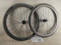 Caraswter 50mm disco carbono estrada rodas de bicicleta de bicicleta disco wheelset bob ud matte clincher com 23mm largura rubar taiwan hubs
