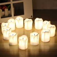 12pcs set Halloween LED Candles Flameless Timer candle tealights Battery Operated Electric Lights Flickering Tealight for wedding Birthday