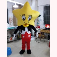 Performance Yellow Star Mascot Costume Halloween Christmas Fancy Party Cartoon Character Outfit Suit Adult Women Men Dress Carnival Unisex Adults