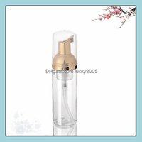 Bottles Packing Office School Business & Industrial30Ml 50Ml Plastic Foam Pump Gold Soap Mousses Liquid Dispenser Foaming Bottle Lx1980 Drop