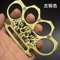 Üç Hayalet Metal Kendini Savunma Savunma Demir Dört Parmak Yumruk Demir Boks Halka Alaşım Çelik Parmak Kaplan El Toka Kutusu Dövüş Sanatları Supplie
