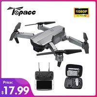 UAV Topacc T58 WIFI FPV Katlanabilir Drone RC Quadcopter Mini 1080 P HOLDE RTF Drontoy Helikopter Hediye VS E68 E88 Pro XT6 V4 Q0602