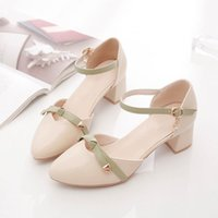 Women's New Sandals Model in New: Middle Thinew One Button, Versatile Fairy Style, High Heel, Baotou Single Shoe Girl 17DV