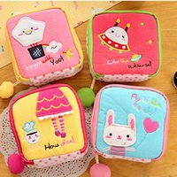 Cute Cosmetic Pouch Case Sanitary Pads Bag Female Reusable Napkin Coin Lipstick Perfume Organizer Bags & Cases