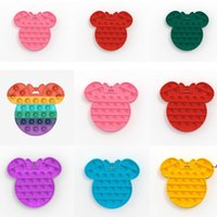 Fidget Pads Silicone Toys Accessories Pop It Push Bubble Poppers Board Game Anxiety Stress Reliever Kids Autism Special Needs DWB6242