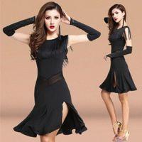 Vestido de baile latino de la competencia de adultos Mujeres de las mujeres Samba faldas bailando el vestido de baile del traje latino D515 #