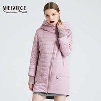 Miegofce Spring Осенняя куртка с косой срезанной женской женской курткой тонкий хлопковое пальто ветрозащитный теплый вязаный рукавной куртка 200919